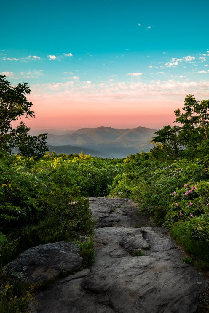 Blood Mountain Summit at Sunrise