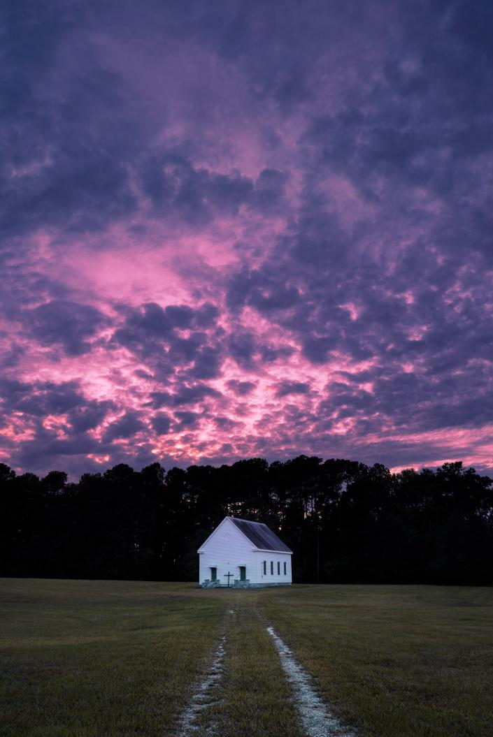Salem Methodist Church Sunset