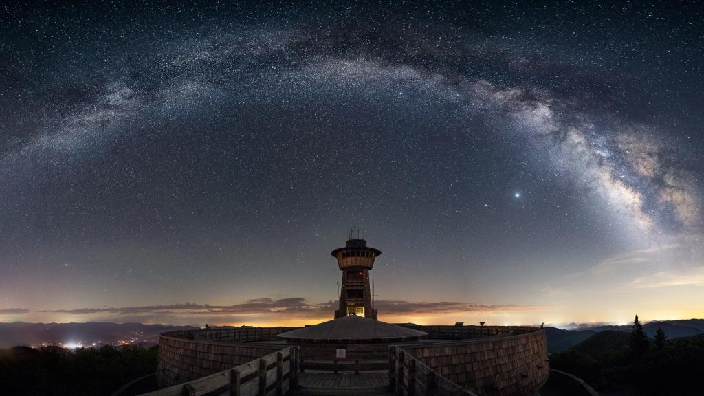 Milky Way Panorama Over Brasstown Bald