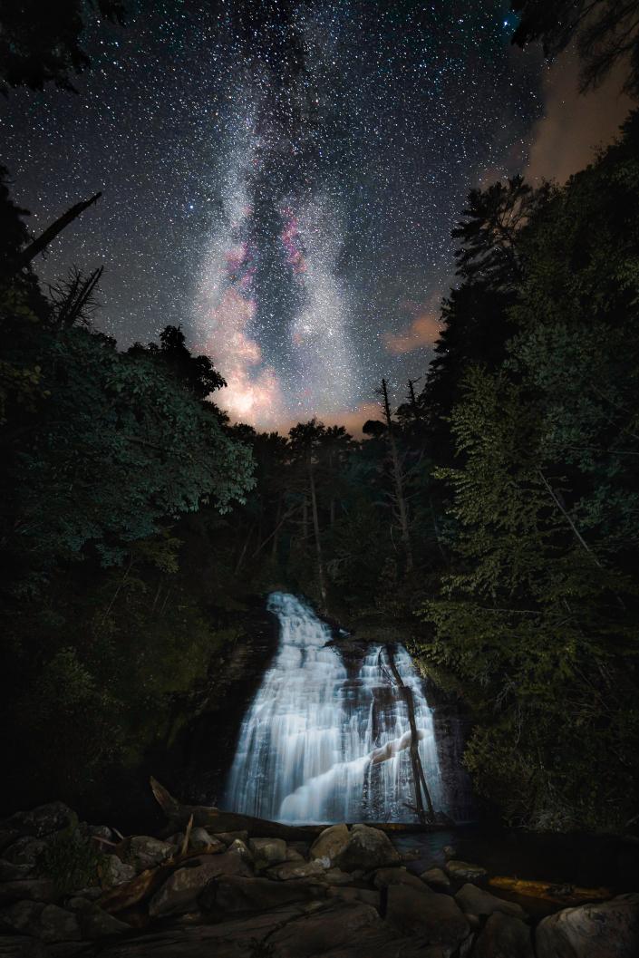 Milky Way Over Helton Creek Falls