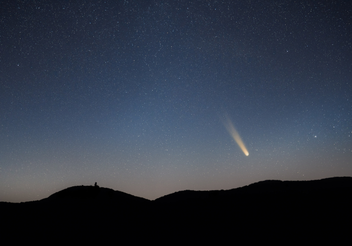 Neowise Comet Over Brasstown Bald