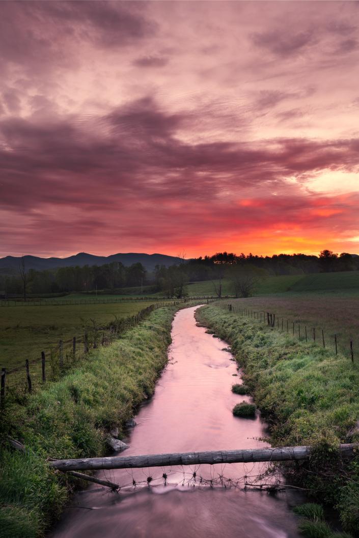Mountain Stream at Sunrise