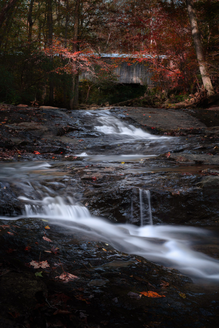 Elder Mill Covered Bridge in the Fall