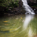 Swirling Waterfall in Tennessee