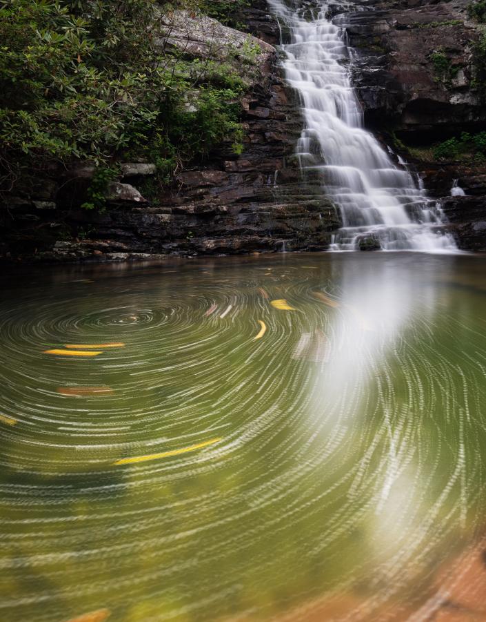 Swirling Waterfall in Tennessee