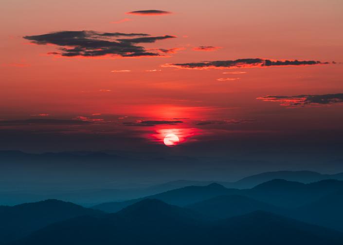 Gorgeous Sunset on Brasstown Bald