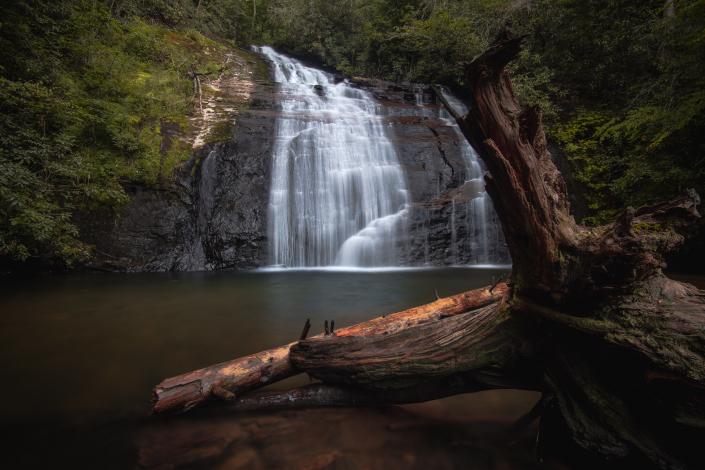 Helton Creek Falls in Summer